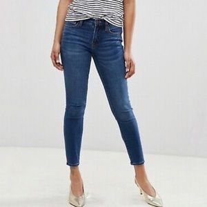 J crew rock away mid rise skinny jeans new